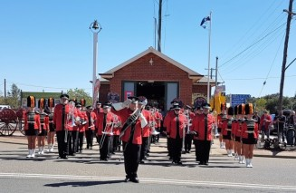 NSW Fire and Rescue band at the Coolamon Fire Museum