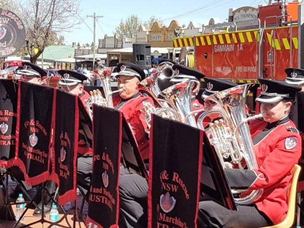 The NSW Fire and Rescue Band in action
